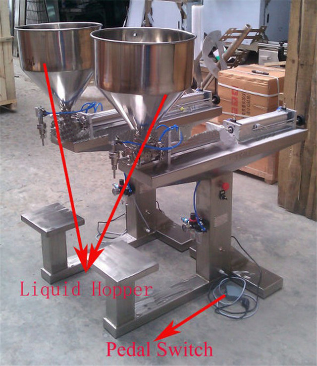 part names of liquid filling machine full pneumatic lotion c