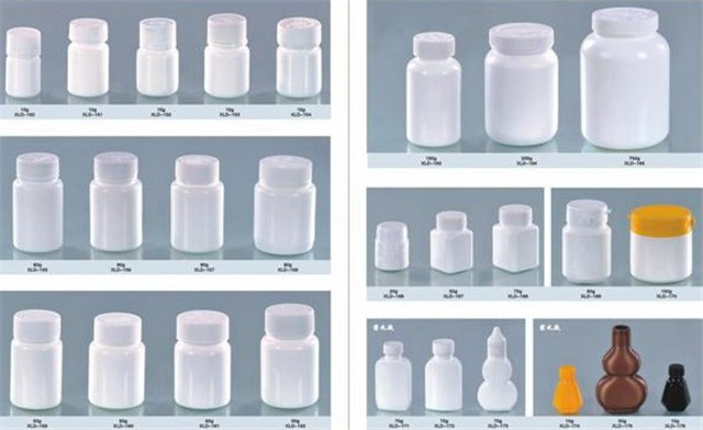 filled bottles by tablets capsule granules candy filling cou