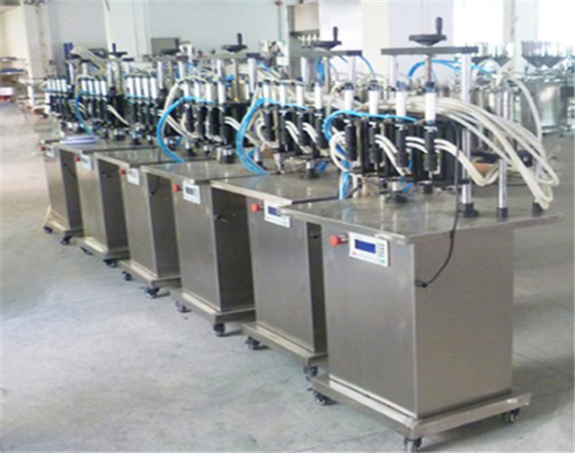 4 heads Filling Machine for Perfume nail polish vacuum liquid filler equipment for glass bottles  Semi-automatic