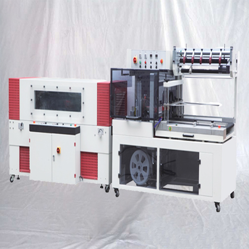 L Bar sealing shrinking machine automatic L-Type sealer shrinking equipment with view window heating tunnel
