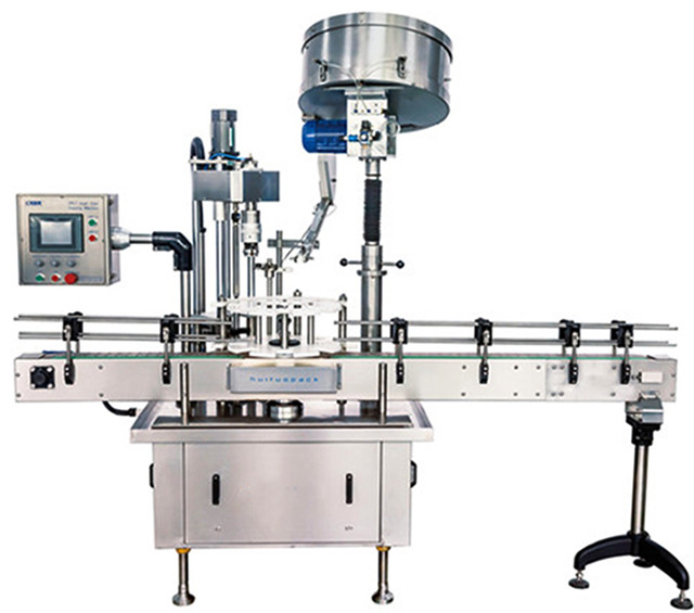automatic single head capping machine with caps sorter cap feeding system  screw capper equipment