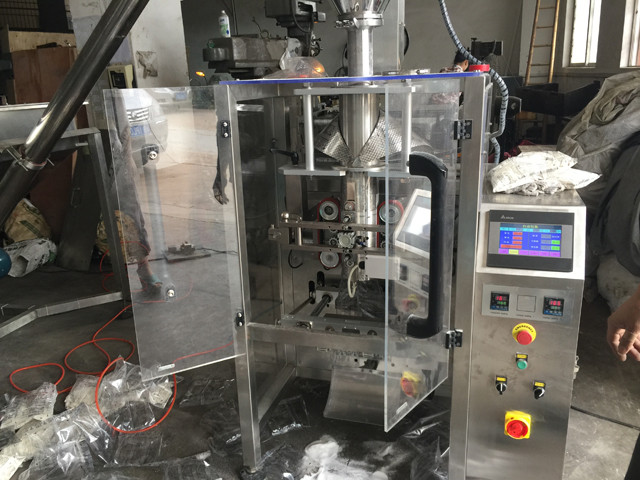 front view of YX-398A powder filling packing machine automat