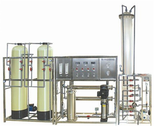 full view of Reverse Osmosis water purification treating sys