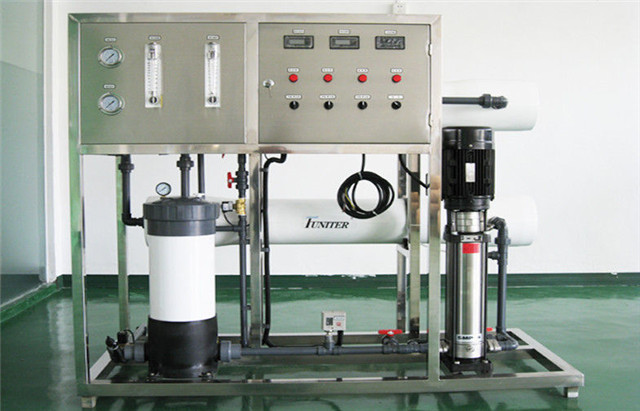detailed view of Reverse Osmosis water purification treating