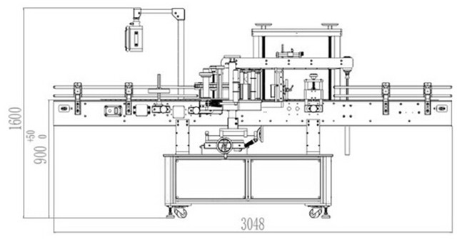 dimensions of Double sided labeling machine automatic.jpg