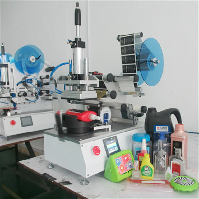 Plane bottle semi automatic flat surface labelling machine manual labeler equipments high precision custom labeling machinery