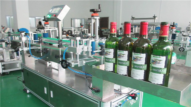 reliable round glass bottles plastic containers wine labelling machines double heads body neck labeler equipment auto