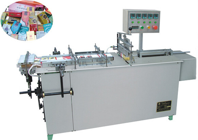 transparent film 3D cellophane overwrapping machine small boxes shrink wrapping packaging machinery semi automatic for soap cigarette condom container overwrapper