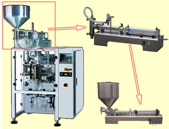structure of hair gel cream lotion liquid packaging machine.