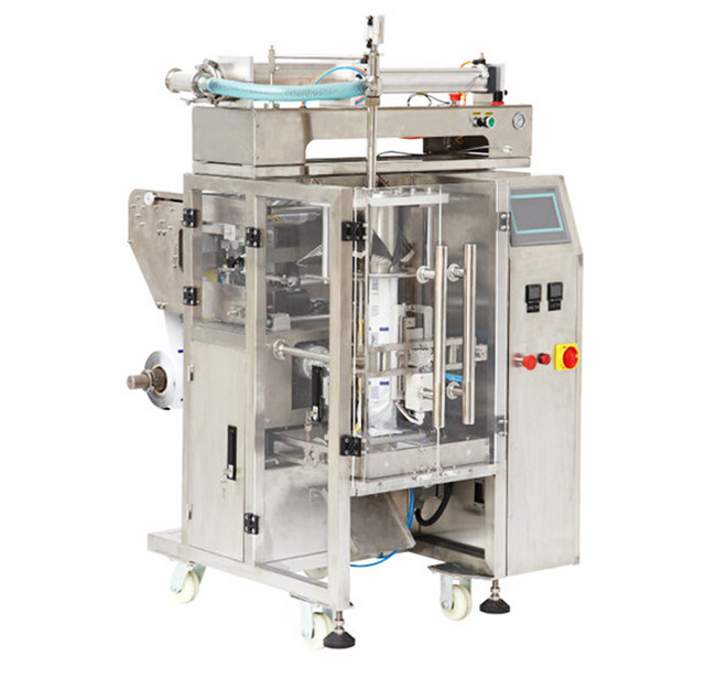 hair gel cream lotion liquid packaging machine fully automated bagging system form fill seal equipments VFFS machinery
