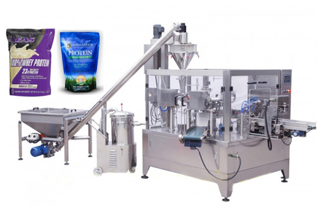 coffee powder milk granules doy pack packaging machinery form fill seal equipments Automatic standup zipper pouch packing machines